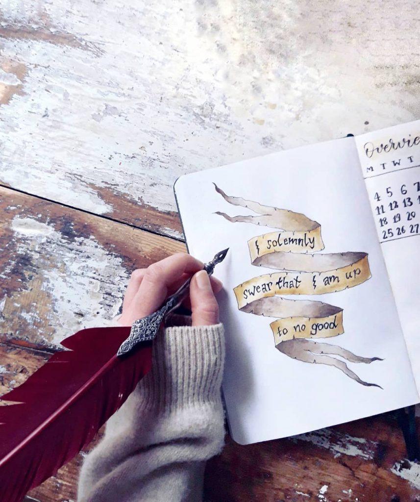 Harry Potter Bullet Journal Spreads