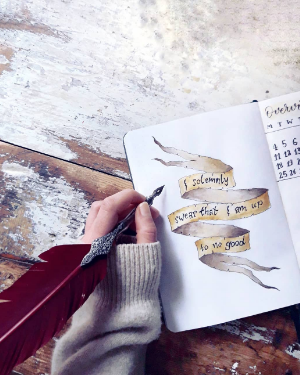 19 magical harry potter bullet journal spreads