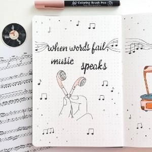 Playlist Tracker Ideas bullet journal