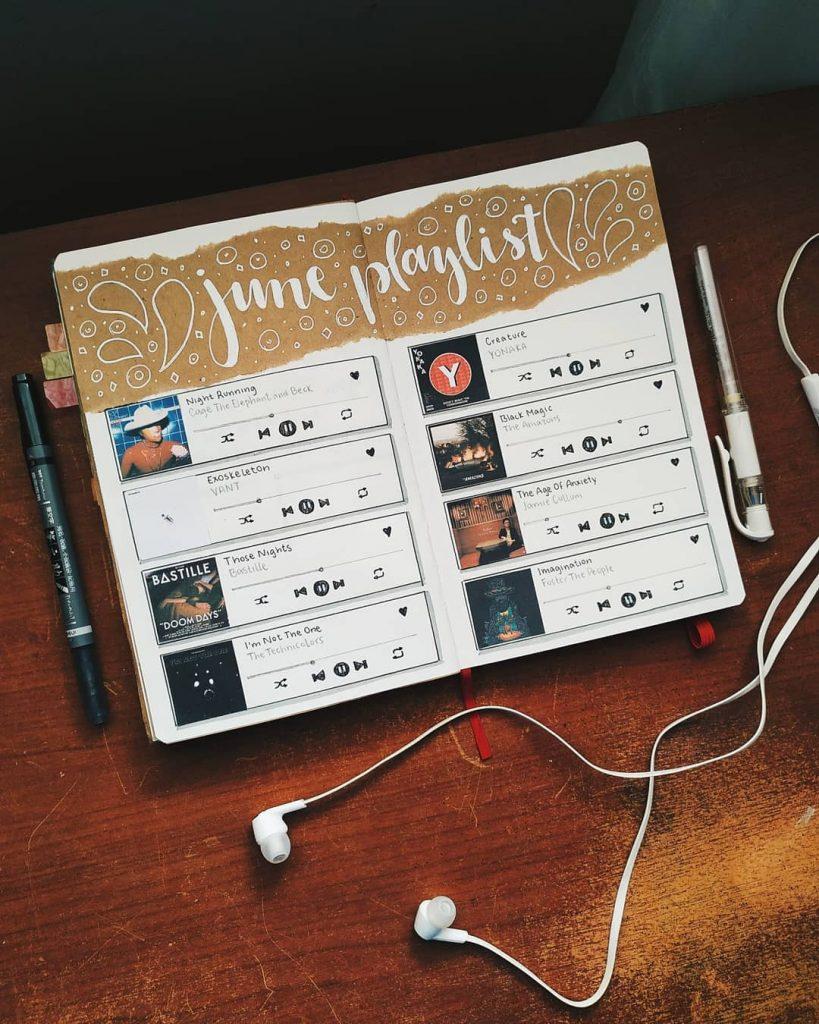Music Bullet Journal