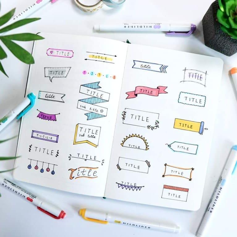 Bullet journal Banner ideas