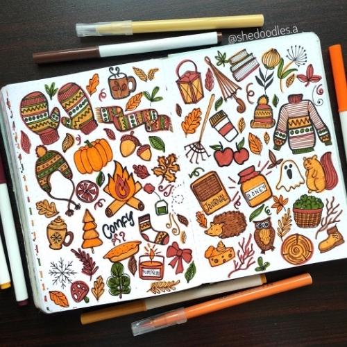 Autumn Bullet Journal Doodles
