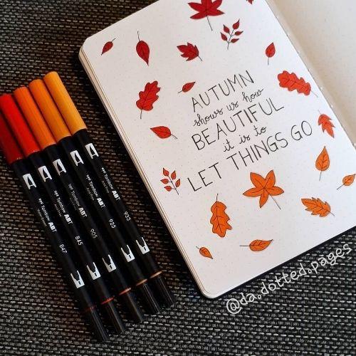 fall bullet journal