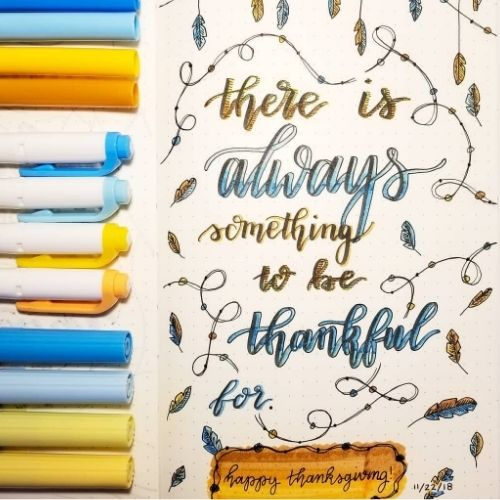 thanksgiving bullet journal quote