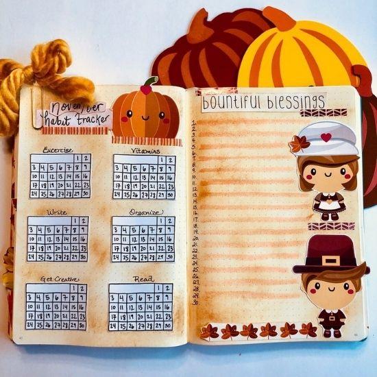 thanksgiving bullet journal