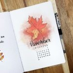 45 Beautiful November Bullet Journal Ideas