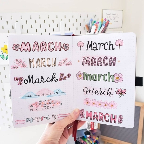 march bullet journal theme ideas