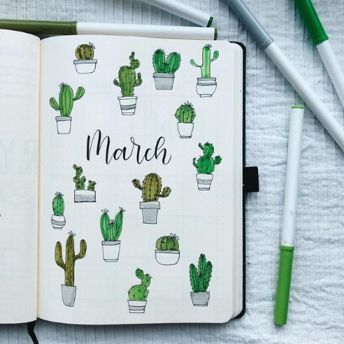 march bullet journal ideas