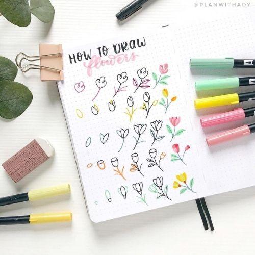 Flower Doodles For Summer