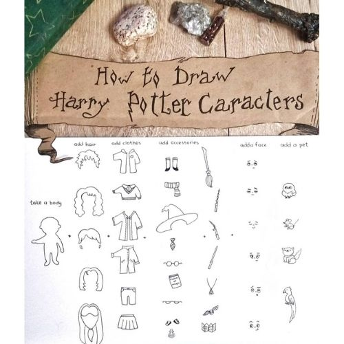 Harry Potter character doodle ideas