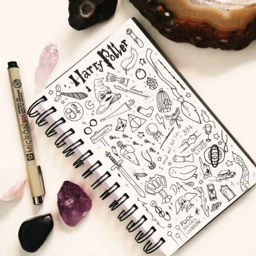 harry potter bujo doodles easy