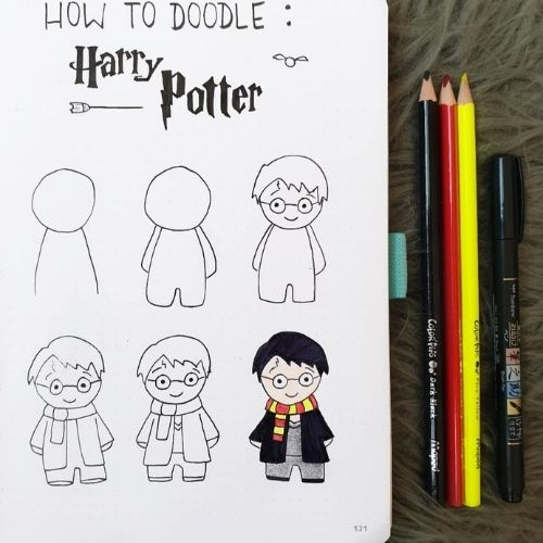 Magical harry- step by step harry potter doodle