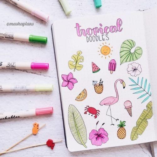 Tropical Doodles for Summer