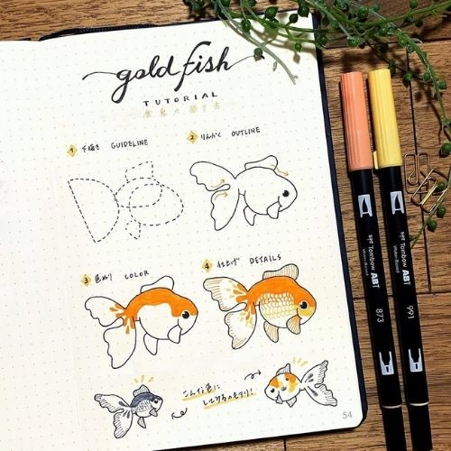 step by step animal doodles