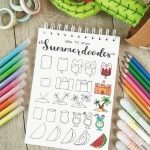 200+ Easy Summer Bullet Journal Doodles for Inspiration In 2021