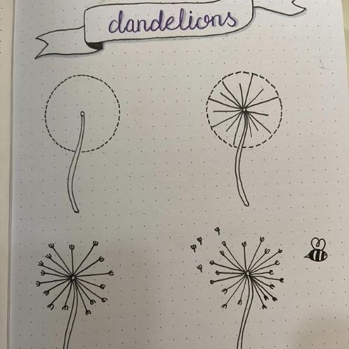 bullet journal flower doodles